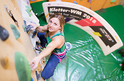 27.03.2017, Kletterzentrum Austria, AUT, IFSC Kletter WM Innsbruck 2018, WM-Promotion in Wien, im Bild Katharina Saurwein // during promotion tour in vienna for the IFSC World Championship Innsbruck 2018 in Vienna, Austria on 2017/03/27, EXPA Pictures © 2017 PhotoCredit: EXPA/ Michael Gruber