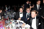 DAVID WALLIAMS; SIR ELTON JOHN; THEO FENNELL, Grey Goose Winter Ball to Benefit the Elton John AIDS Foundation. Battersea park. London. 29 October 2011. <br /> <br />  , -DO NOT ARCHIVE-© Copyright Photograph by Dafydd Jones. 248 Clapham Rd. London SW9 0PZ. Tel 0207 820 0771. www.dafjones.com.