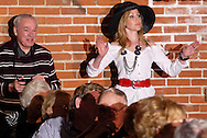 """Tammy Schaff (right) during Mayhem & Mystery's production of """"Fashion Friction"""" at the Spaghetti Warehouse in downtown Dayton, Monday, March 21, 2011."""