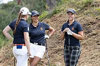 NUNSPEET  -  vlnr Britt op den Winkel, Carmen Gonzalez en Roos Nijenhuis (Nederlands B)  ,  NGF Nationale selectie golf Nationale team,   COPYRIGHT KOEN SUYK