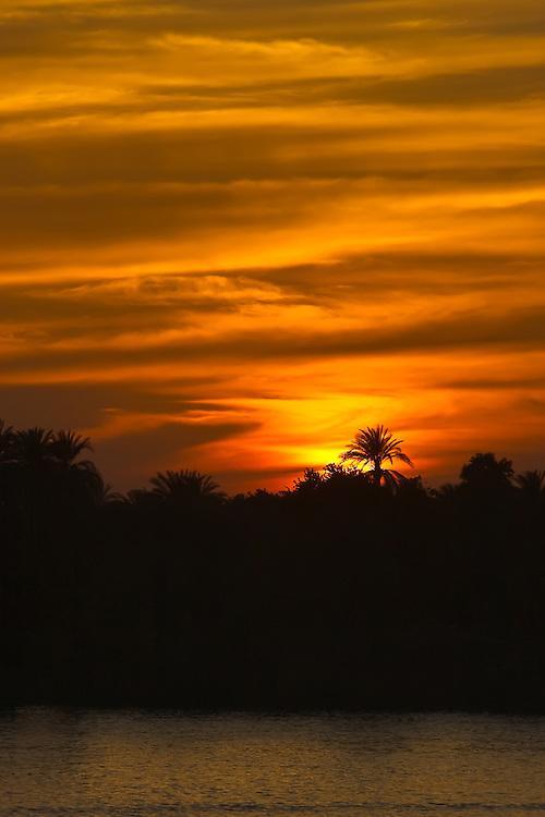 Nile Sunset at Edfu