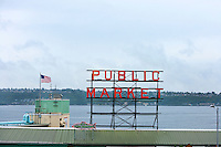Public Market sign at Seattle fish markets