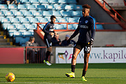 Portsmouth forward Jamal Lowe (10) warms up for the EFL Sky Bet League 1 match between Scunthorpe United and Portsmouth at Glanford Park, Scunthorpe, England on 24 November 2018.