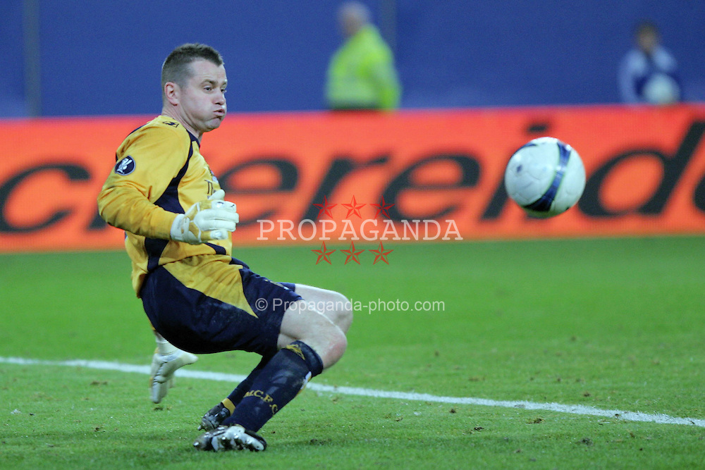 HAMBURG, GERMANY - Thursday, April 9, 2009: Manchester City's goalkeeper Shay Given in action during the 3-1 defeat to Hamburg during the UEFA Cup Quarter-Final 1st Leg match at the HSH Nordbank Arena. (Pic by NPH/Expa/Propaganda)