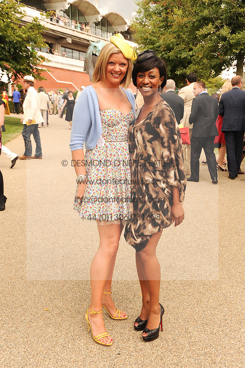 Left to right, SARAH DEWEY and BEVERLEY KNIGHT at the third day of the 2010 Glorious Goodwood racing festival at Goodwood Racecourse, Chichester, West Sussex on 29th July 2010.