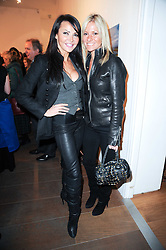 Left to right, LIZZIE CUNDY and ALEX BEST at a private view of 'Life Vividly Lived Part 1' an exhibition of works inspired by Inishturkbeg, an island off the west coast of Ireland held at Flowers, 21 Cork Street, London on 9th February 2010.