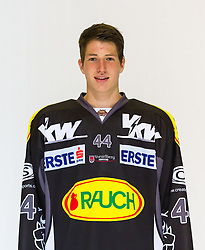 29.08.2012, Messestadion, Dornbirn, AUT, EBEL, Spielerportraits, Dornbirner Eishockey Club, im Bild Kassian Wohlgenannt, (Dornbirner HC, #44)// during Dornbirner Eishockey Club Player Portrait Session at the Messestadion, Dornbirn, Austria on 2012/08/29, EXPA Pictures © 2012, PhotoCredit: EXPA/ Peter Rinderer