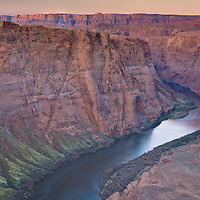 Sunrise at the Horseshoe Bend, Page, Arizona
