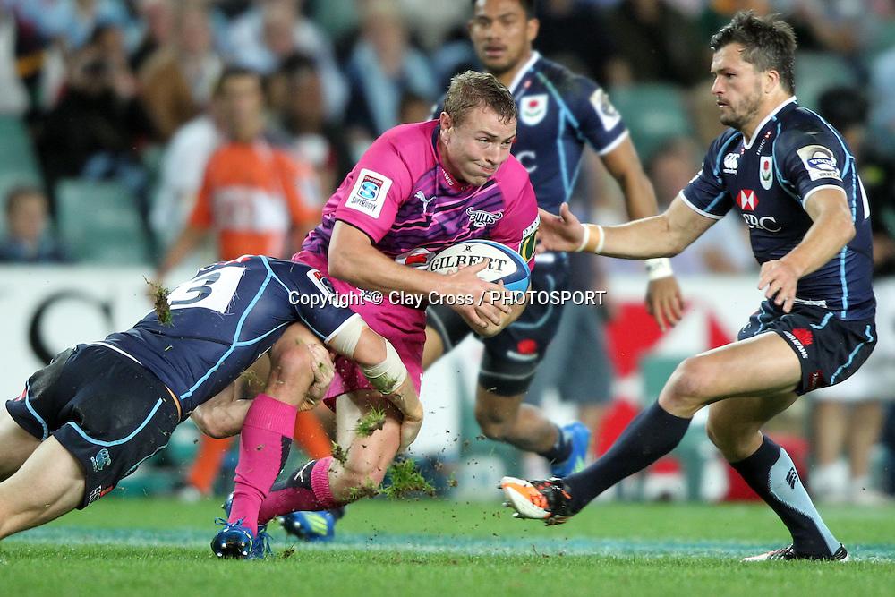 Johann Sadie. Waratahs v Bulls. 2012 Super Rugby round 12 match. Allianz Stadium, Sydney Australia on Friday 11 May 2012. Photo: Clay Cross / photosport.co.nz