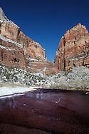 Virgin River, Winter, Zion National Park