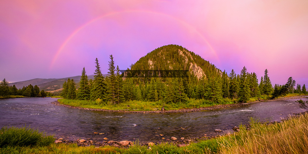A rainbow over the Gallatin River at Sunset. Limited Edition - 150