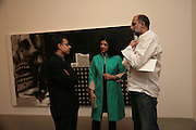 Rajit Dutta, Mrs. Kalpana Brijnath,  Sharanbir Britnath . Other,Riyas Komu and Peter Drake. - VIP  launch of Aicon. London's largest contemporary Indian art gallery. Heddon st. and afterwards ant Momo.15 Marc h 2007.  -DO NOT ARCHIVE-© Copyright Photograph by Dafydd Jones. 248 Clapham Rd. London SW9 0PZ. Tel 0207 820 0771. www.dafjones.com.