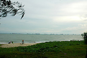 A cool evening by the sea at East Coast Park, Singapore