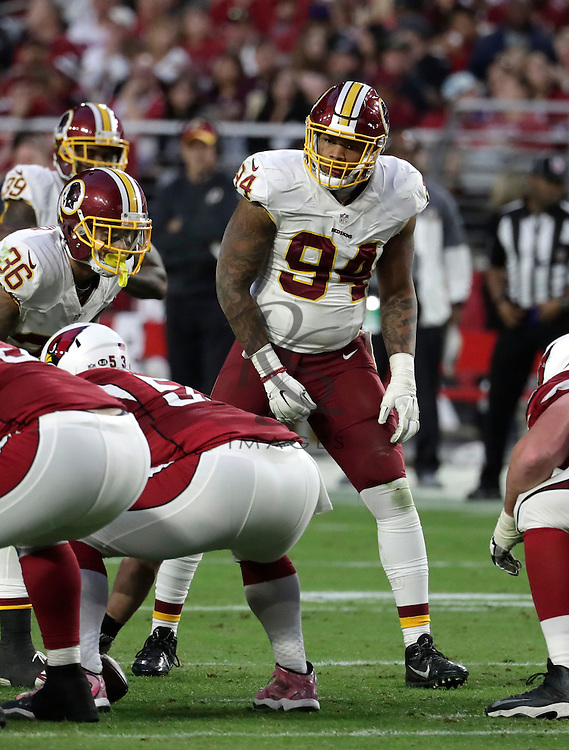 Washington Redskins outside linebacker Preston Smith (94) during an NFL football game against the Arizona Cardinals, Sunday, Dec. 4, 2016, in Glendale, Ariz. (AP Photo/Rick Scuteri)
