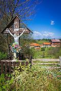 Memorial to local residents killed in war, Karlovac County, Croatia