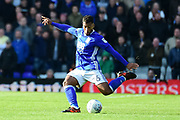 Birmingham City midfielder David Davis (26) crosses during the EFL Sky Bet Championship match between Birmingham City and Aston Villa at St Andrews, Birmingham, England on 29 October 2017. Photo by Dennis Goodwin.