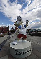 MOSCOW June 18 FIFA Confederations Cup Russia 2017 Official Mascot  of The Football World Cup 2018 Near The Red Square  <br /> maskot  , illustrasjon<br /> <br /> <br /> Norway only