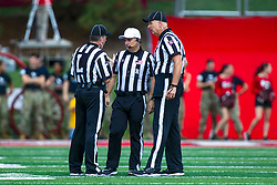 NORMAL, IL - October 05: Mike Lowenberg, David Siegle, Steve Flanagan during a college football game between the ISU (Illinois State University) Redbirds and the North Dakota State Bison on October 05 2019 at Hancock Stadium in Normal, IL. (Photo by Alan Look)