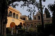 Seville Spain.<br />Garden of the Alcazar Palace.
