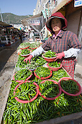 Jagalchi Fish Market. Hot green Chilis.
