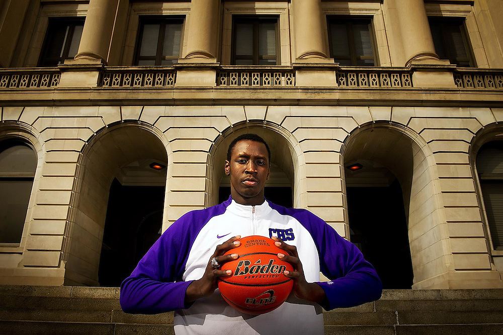 Omaha Central basketball star Akoy Agau