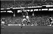 All Ireland Hurling Final - Cork vs Kilkenny.05.09.1982.09.05.1982.5th September 1982.Photographs taken at The All Ireland Final which was played at Croke Park, Dublin.C Heffernan (Kilkenny ) is beaten to the dropping ball by the Cork defender..