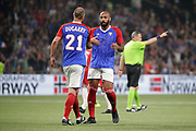 Christophe Dugarry (France 98) celebrated the goal scored by Thierry Henry (France 98) during the 2018 Friendly Game football match between France 98 and FIFA 98 on June 12, 2018 at U Arena in Nanterre near Paris, France - Photo Stephane Allaman / ProSportsImages / DPPI