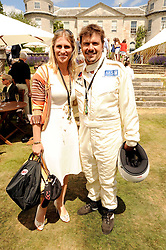 MARK & ANNE STEWART at a luncheon hosted by Cartier for their sponsorship of the Style et Luxe part of the Goodwood Festival of Speed at Goodwood House, West Sussex on 4th July 2010.