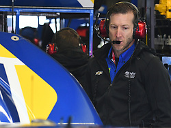February 23, 2019 - Hampton, GA, U.S. - HAMPTON, GA - FEBRUARY 23: Alan Gustafson, crew chief for Chase Elliott, Hendrick Motorsports, Chevrolet Camaro NAPA Auto Parts (9) during practice for the Monster Energy Cup Series QuikTrip Folds of Honor 500 on February 23, 2019, at Atlanta Motor Speedway in Hampton, GA.(Photo by Jeffrey Vest/Icon Sportswire) (Credit Image: © Jeffrey Vest/Icon SMI via ZUMA Press)