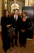 Mr. and Mrs ( Kate)  Ben Goldsmith abd Lady Annabel Goldsmith, Annabel, An Unconventional Life. Memoirs of Lady Annable goildsmith. The Ritz. 10 March 2004. ONE TIME USE ONLY - DO NOT ARCHIVE  © Copyright Photograph by Dafydd Jones 66 Stockwell Park Rd. London SW9 0DA Tel 020 7733 0108 www.dafjones.com