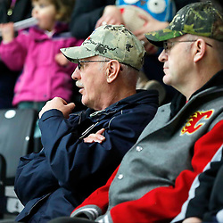 COBOURG, ON - FEB 25,  2017: Ontario Junior Hockey League game between Cobourg and Trenton, Trenton fans watch the final game of the regular season.<br /> (Photo by Amy Deroche / OJHL Images)