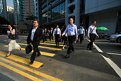 CHINA HONG KONG 26MAY10 - Bankers on their way to work in Central, Hong Kong...jre/Photo by Jiri Rezac..© Jiri Rezac 2010