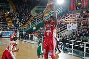 DESCRIZIONE : Avellino Lega A 2014-15 Sidigas Avellino Giorgio Tesi Group Pistoia<br /> GIOCATORE : Langston Hall<br /> CATEGORIA : rimbalzo<br /> SQUADRA : Giorgio Tesi Group Pistoia<br /> EVENTO : Campionato Lega A 2014-2015<br /> GARA : Sidigas Avellino Giorgio Tesi Group Pistoia<br /> DATA : 13/04/2015<br /> SPORT : Pallacanestro <br /> AUTORE : Agenzia Ciamillo-Castoria/A. De Lise<br /> Galleria : Lega Basket A 2014-2015 <br /> Fotonotizia : Avellino Lega A 2014-15 Sidigas Avellino Giorgio Tesi Group Pistoia