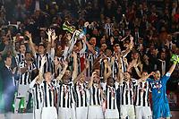 Celebrazione Coppa Juventus vince il trofeo, Celebration Cup Juventus Wins the trophy <br /> Roma 09-05-2018  Stadio Olimpico  <br /> Football Calcio Finale Coppa Italia / Italy's Cup Final 2017/2018 <br /> Juventus - Milan<br /> Foto Cesare Purini / Insidefoto