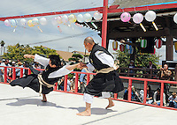 """The Japanese martial art of """"shorinji kempo"""" is demonstrated by members of Shorinji Kempo Monterey during the 63rd annual Obon Festival at the Buddhist Temple of Salinas on Sunday."""