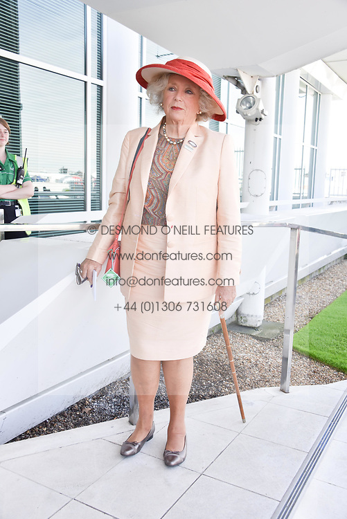 Kirsten Rausing at the 2d day of The Investec Derby Festival - Derby Day, Epsom Racecourse, Epsom, Surrey, UK. 01 June 2019.