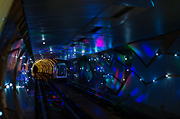 Bund Sightseeing Tunnel at the city of Shanghai in popular republic of China