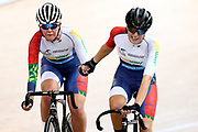 SIT HUB Emily Paterson and Natalie Green during the 2019 Vantage Elite and U19 Track Cycling National Championships at the Avantidrome in Cambridge, New Zealand on Sunday, 10 February 2019. ( Mandatory Photo Credit: Dianne Manson )