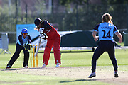 Lancashire Thunders Kate Cross (Captain) during the Vitality T20 Blast North Group match between Lancashire Thunder and Yorkshire Vikings at Liverpool Cricket Club, Liverpool, United Kingdom on 13 August 2019.
