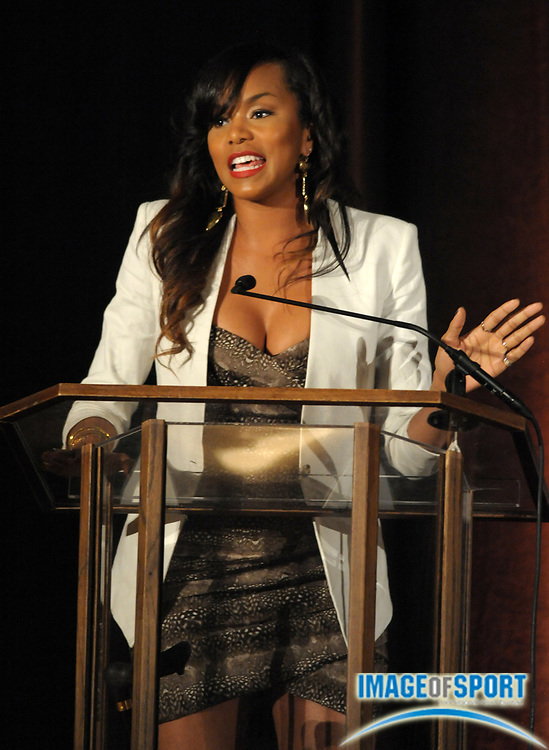 Mar 30, 2012; Austin, TX, USA; Recording artist LeToya Luckett at the 6th annual Minority Mentorship Symposium at the AT&T Executive Education and Conference Center.