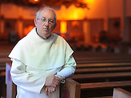 POPESHRINE20P<br /> Father Edward Volz poses for a photo in the upper church at  the National Shrine of Our Lady of Czestochowa Monday September 14, 2015 in Doylestown, Pennsylvania. Pope Francis will visit Philadelphia September 26 and 27th. (William Thomas Cain/For The Inquirer)