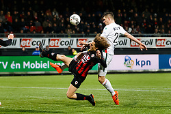 (L-R) Wout Faes of Excelsior, Nick Kuipers of ADO Den Haag during the Dutch Eredivisie match between sbv Excelsior Rotterdam and ADO Den Haag at Van Donge & De Roo stadium on March 16, 2018 in Rotterdam, The Netherlands
