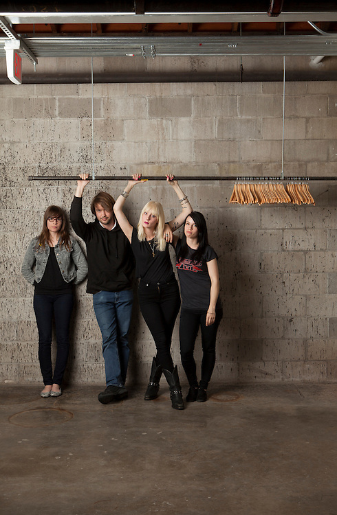 "20 June 2012- ""White Lung"" is photographed at minorwhite studios for Alternative Press."