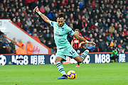 Pierre-Emerick Aubameyang (14) of Arsenal shoots at goal during the Premier League match between Bournemouth and Arsenal at the Vitality Stadium, Bournemouth, England on 25 November 2018.