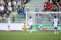 Mouhammadou DABO / Samuel UMTITI - 09.05.2015 -  Caen / Lyon  - 36eme journee de Ligue 1<br />Photo : Vincent Michel / Icon Sport