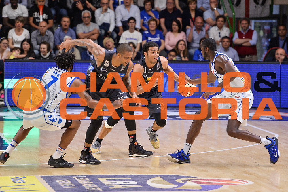 Shavon Shields<br /> Banco di Sardegna Dinamo Sassari - Dolomiti Energia Aquila Basket Trento<br /> Legabasket Serie A LBA Poste Mobile 2016/2017<br /> Playoff Quarti Gara3<br /> Sassari 16/05/2017<br /> Foto Ciamillo-Castoria