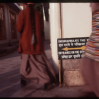 Photo by David Stephenson.  Tibetan women circumambulate at a monestery in Dharamsala, India, in 11/91.