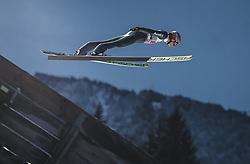 30.12.2018, Schattenbergschanze, Oberstdorf, GER, FIS Weltcup Skisprung, Vierschanzentournee, Oberstdorf, 1. Wertungsdurchgang, im Bild Karl Geiger (GER) // Karl Geiger of Germany during his 1st Competition Jump for the Four Hills Tournament of FIS Ski Jumping World Cup at the Schattenbergschanze in Oberstdorf, Germany on 2018/12/30. EXPA Pictures © 2018, PhotoCredit: EXPA/ JFK