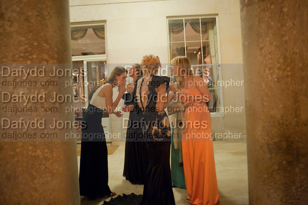 COURTNEY LOVE; KATE REARDON, The Goodwood Ball. In aid of Gt. Ormond St. hospital. Goodwood House. 27 July 2011. <br /> <br />  , -DO NOT ARCHIVE-© Copyright Photograph by Dafydd Jones. 248 Clapham Rd. London SW9 0PZ. Tel 0207 820 0771. www.dafjones.com.