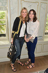 Left to right, KIM HERSOV and TANIA FARES at a breakfast hosted by Halcyon Days at Fortnum & Mason, 181 Piccadilly, London on 8th July 2014.